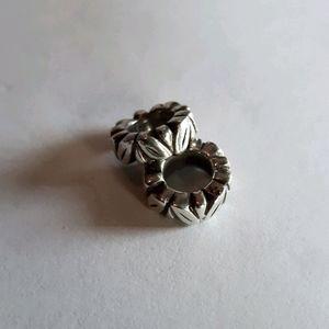Pandora leaf spacer charms (×2)